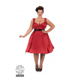 Robe Rouge Satin GRANDES TAILLES