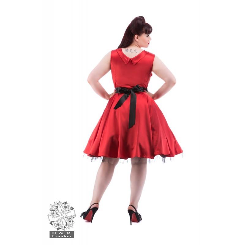 robe rouge satin grandes tailles pin up addict. Black Bedroom Furniture Sets. Home Design Ideas