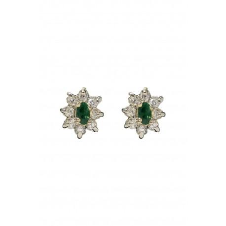 Boucles d'oreilles perles clusters