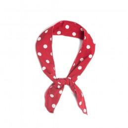 Foulard rigide rouge à pois