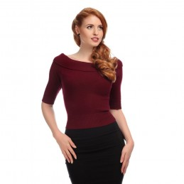 Pull bordeaux Bridget