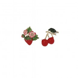 Broche Baies rouges