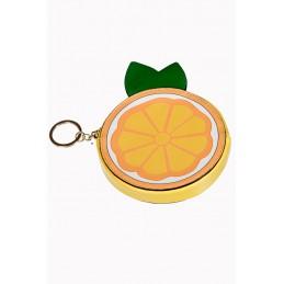 Porte-monnaie orange vitaminée