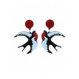 Boucles d'oreilles Rockabilly Swallow