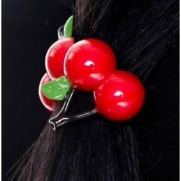 Elastique cerises pour cheveux