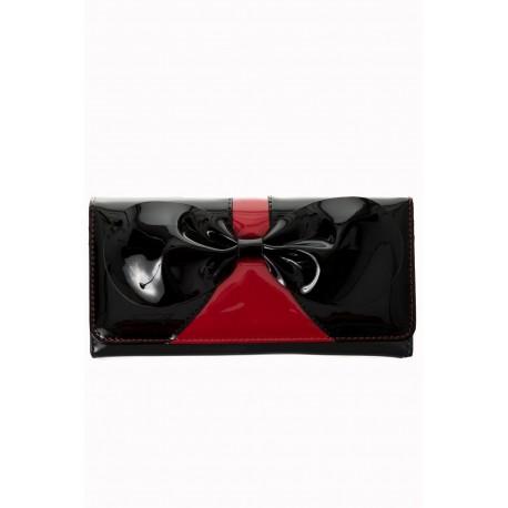 Portefeuille Vernis noir et rouge